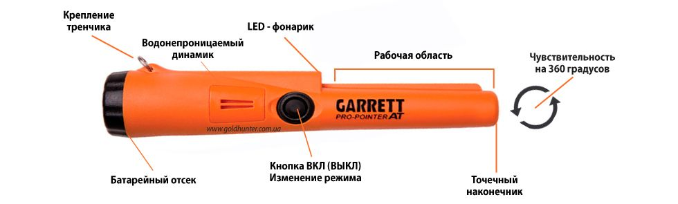 Характеристики пинпоинтера Garrett AT pro-pointer
