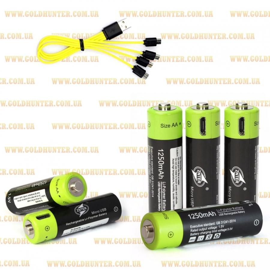 Аккумуляторы ZNTER AA, 1250 mAh - упаковка 4 шт. - 1