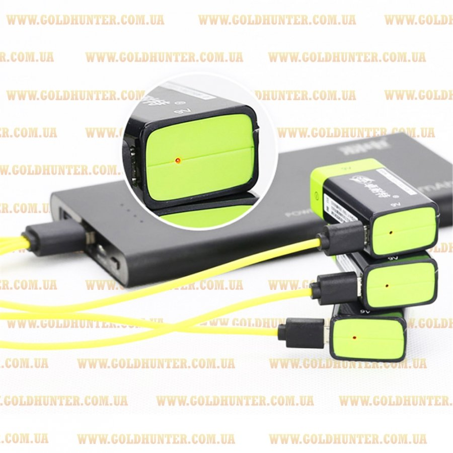 USB Аккумулятор для пинпоинтера ZNTER S19 9V 400mAh  - 2