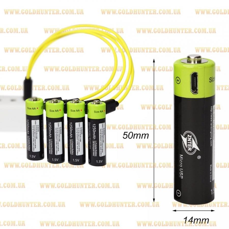 Аккумуляторы ZNTER AA, 1250 mAh - упаковка 4 шт. - 2