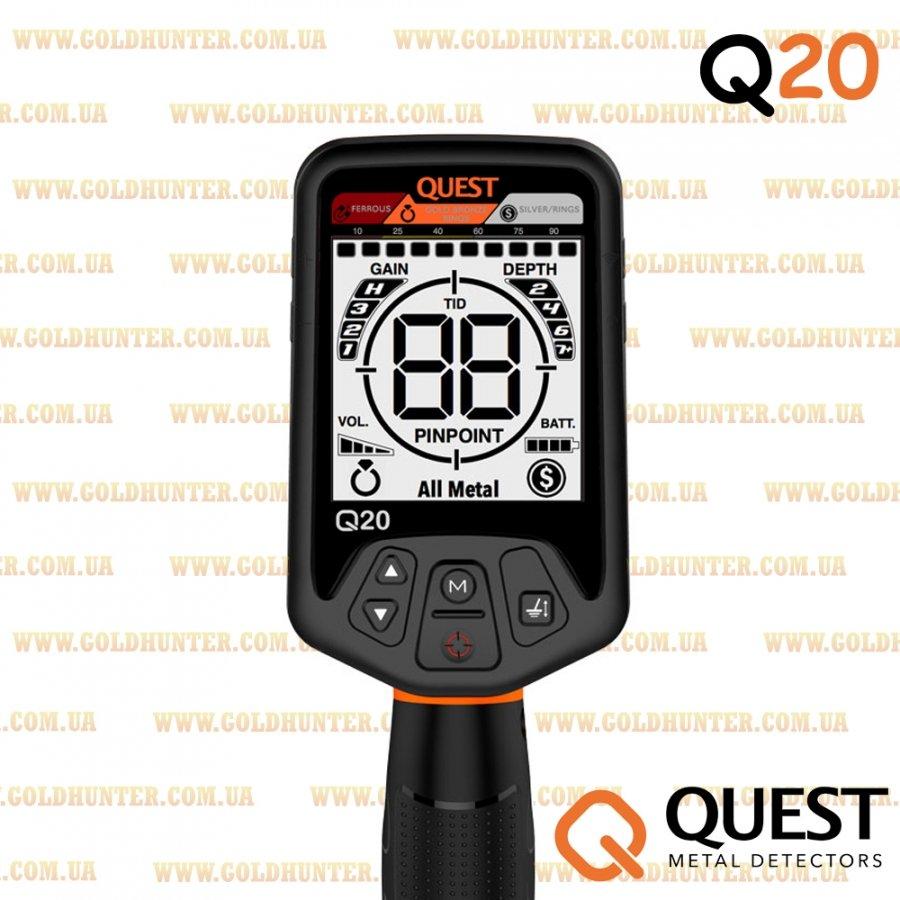 Металлоискатель Quest Q20 (грунтовой) - 2